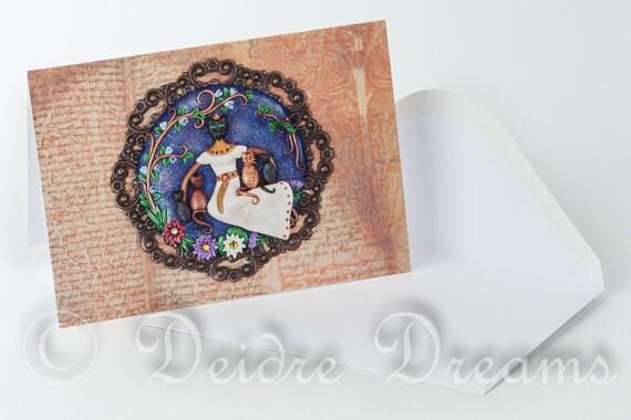 Bastet Card, Bast Card, Greeting Card, Greetings Card, Cat Lovers Card, Egyptian Cat Goddess Card, Cat Greeting Card, Valentine Card