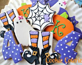 Halloween Birthday Cookie Assortment One Dozen