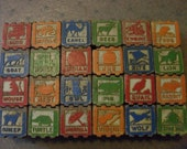 Vintage Wooden Blocks for Craft Projects