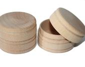 5-Wood Tooth Fairy Boxes, Pill Box, Jewelry Box, Trinket Box, Wood Circular Box