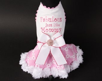 SPRING:  Fabulous Just Like Mommy Dog Dress