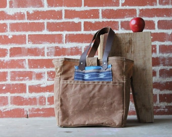 Waxed Canvas Tote Soft Brown