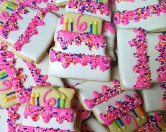 Decorated Birthday Cake Cookies (2 Dozen)