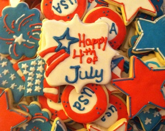 4th of July Decorated Cookies (2 Dozen)
