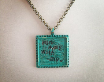 Run away with me necklace