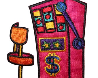 ID #8567 Casino Gambling Slot Machine Vegas Embroidered Iron On Applique Patch