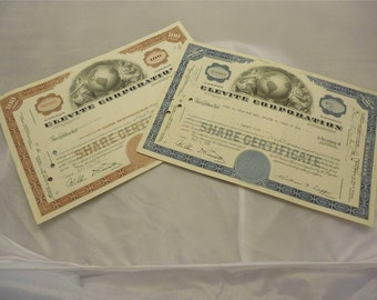 Clevite Corporation Cancled Stock Certificates    M999