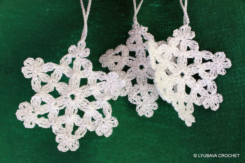 Crochet PATTERN Snowflake Crochet Pattern by LyubavaCrochet