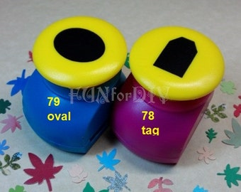 20~22mm large size paper punch -- oval OR tag,  Jewelry Template, Stud earrings holder
