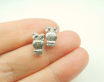 Sterling Silver Owl Stud Earrings, Silver Jewelry, Earrings, Owl Jewelry, Owl Studs, Owl Earrings, Jewelry, Christmas Gift, Great Gift.