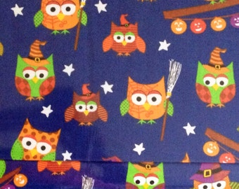 Trick or Treat - Royal Halloween Fabric - 1 Yard Cut - Halloween Fabric - A E Nathan CO Fabric.