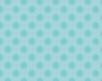 Medium Dots Tone on Tone Aqua by Riley Blake Designs 1 Yard Cut - Dots Fabric - Tone on Tone Aqua Dots