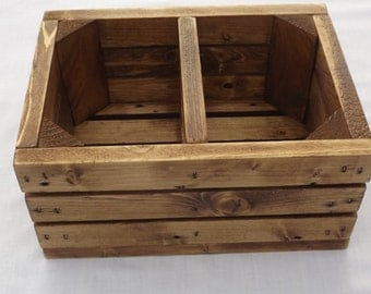 Reclaimed Wooden Remote Control Caddy With Early American, Candle holder