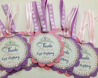 Sofia the First Favor Tags - Set of 12