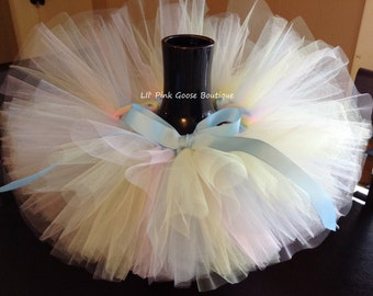 PASTEL TUTU, Newborn Photography Prop, Colorful Tutu, Birthday Tutu, Newborn tutu, photography prop, 1st Birthday tutu