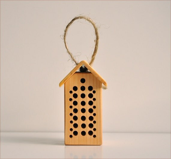 Insetto hotel per le api solitarie ornamento di casa in for Arredamento in miniatura