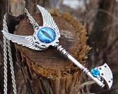 Steampunk evil eye necklace