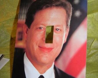 Vintage Postcard Lightswitch Cover Al Gore