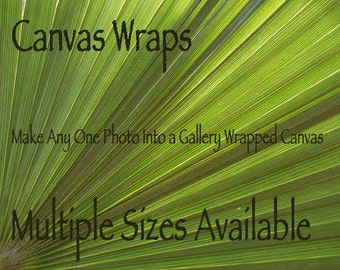 Canvas Wraps, Gallery Style, Choose any Photo