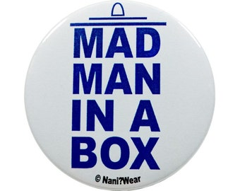 2-Inch 11th Doctor Button: Mad Man in a Box
