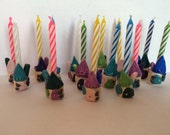 Tiny Fairy House Birthday Candle Holders (sets of 5)