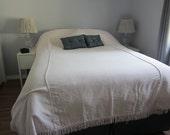 Pale Pink Cotton Blanket, Vintage