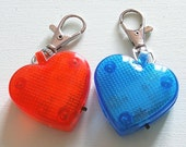 Heart Shaped LED Clip-On for Dog Collars/ Keychains/ Backpacks
