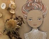Original Pencil Drawing, Whimsical Illustration, OOAK, Fine Art by Barbara Szepesi Szucs