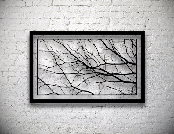 Framed Tree Branches Handmade Original Paper Cut By