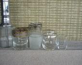 Vintage Glassware with Pump Drink Dispenser, Instant Retro Bar for Two, Mid Century Modern Barware