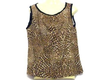 Leopard Print Top, Animal Print Top, Vest Top, Tops, Vests, Womens Tops, Womens Vests, By Rebeccas Clothes