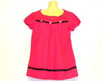 Pink Top, Gypsy Top, Summer Top, Pink T Skirt, T Shirts, Tops, Womens Tops, Womens T Shirts, By Rebeccas Clothes