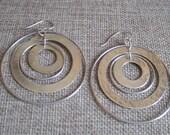Large Hammer Multi Disc Earrings