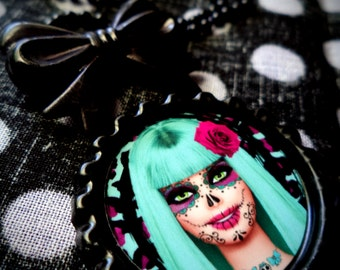Muertos Barbie necklace