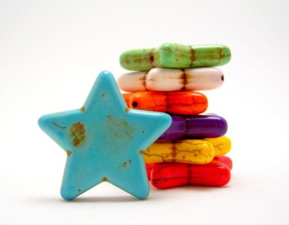 magnesite stars 34mm (one bead)