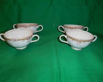 Four (4), Porcelain Bouillion Cups