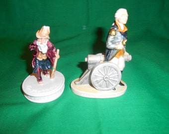 Two (2), Sebastian Figurines. 1980 Rip Van Winkle and 1947 George Washington.