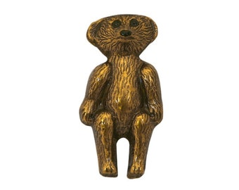 Teddy Bear 1 inch ( 25 mm ) Susan Clarke Metal Button