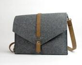 20% OFF! Felt  Messenger Bag Shoulder Bag Hand Bag tote bag Business Bag Handbag Custom Made Felt Leather Bag E1739-MGra01