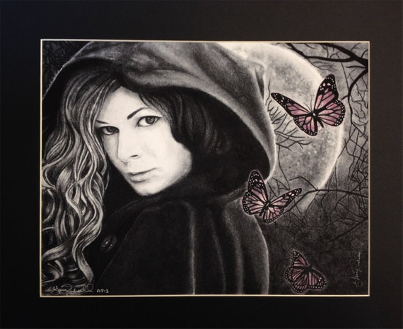 The Other Side Limited Edition Print with Custom Hand Shaded Butterfly Color by Gary Rudisill