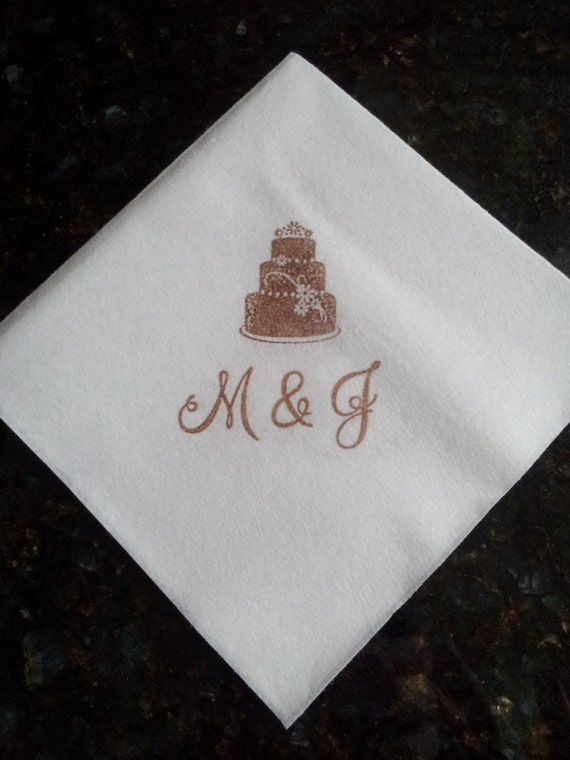 wedding cake napkins personalized linen like wedding napkins for cocktail by 23295