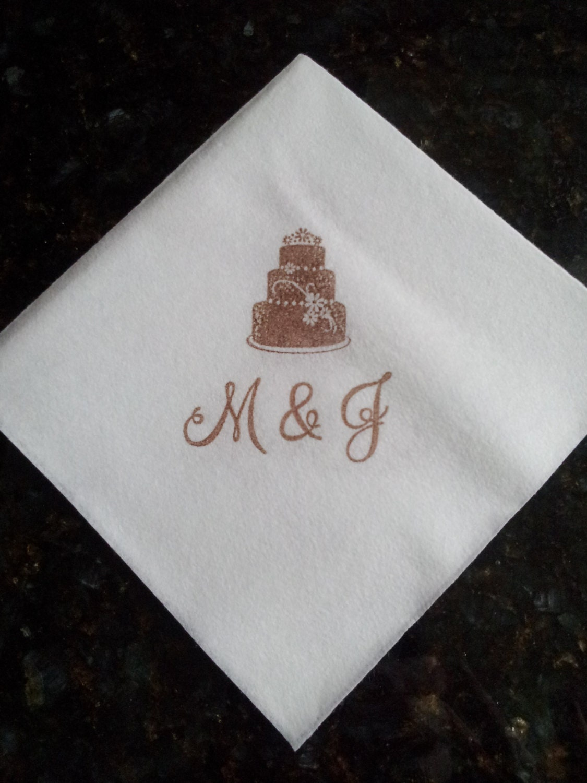 personalized linen like wedding napkins for cocktail by 2design4u. Black Bedroom Furniture Sets. Home Design Ideas