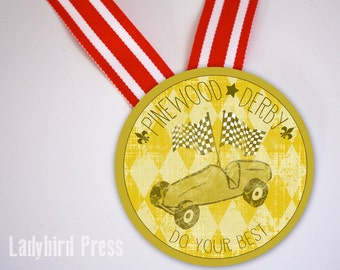Printable Pinewood Derby Medal - Do Your Best- Cub Scout - Award