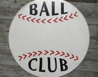 Custom-Personalized Baseball Sign,  wooden wall hanging C SB 2