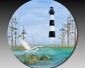 Coaster Lighthouse with Heron