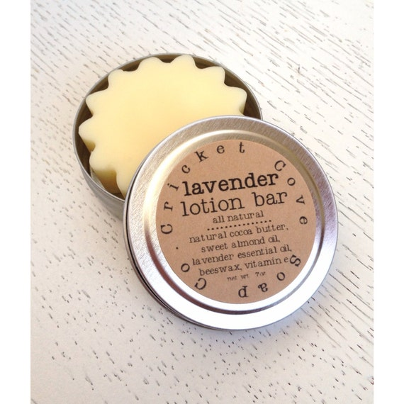 LOTION BAR - Lavender Lotion Bar - Solid Lotion Bar - Natural Lotion