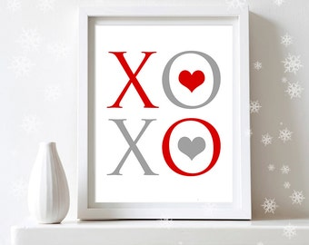 Items Similar To Printable Valentine Decor Poster Print Instant Download Pink Heart Art Print