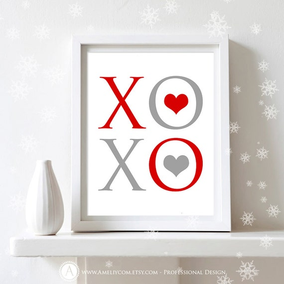 Wall Decoration Gifts : Items similar to printable valentines day decor poster