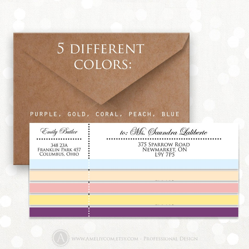 printable wrap around address labels editable instant download