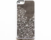 iPhone 5C Case. Wood Geometric Lines. Case for iPhone 5C. Phone Case. 5C Phone Case. Geometric Phone Case.
